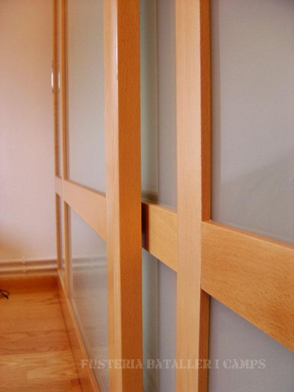 Portes armari correder faig natural lateral