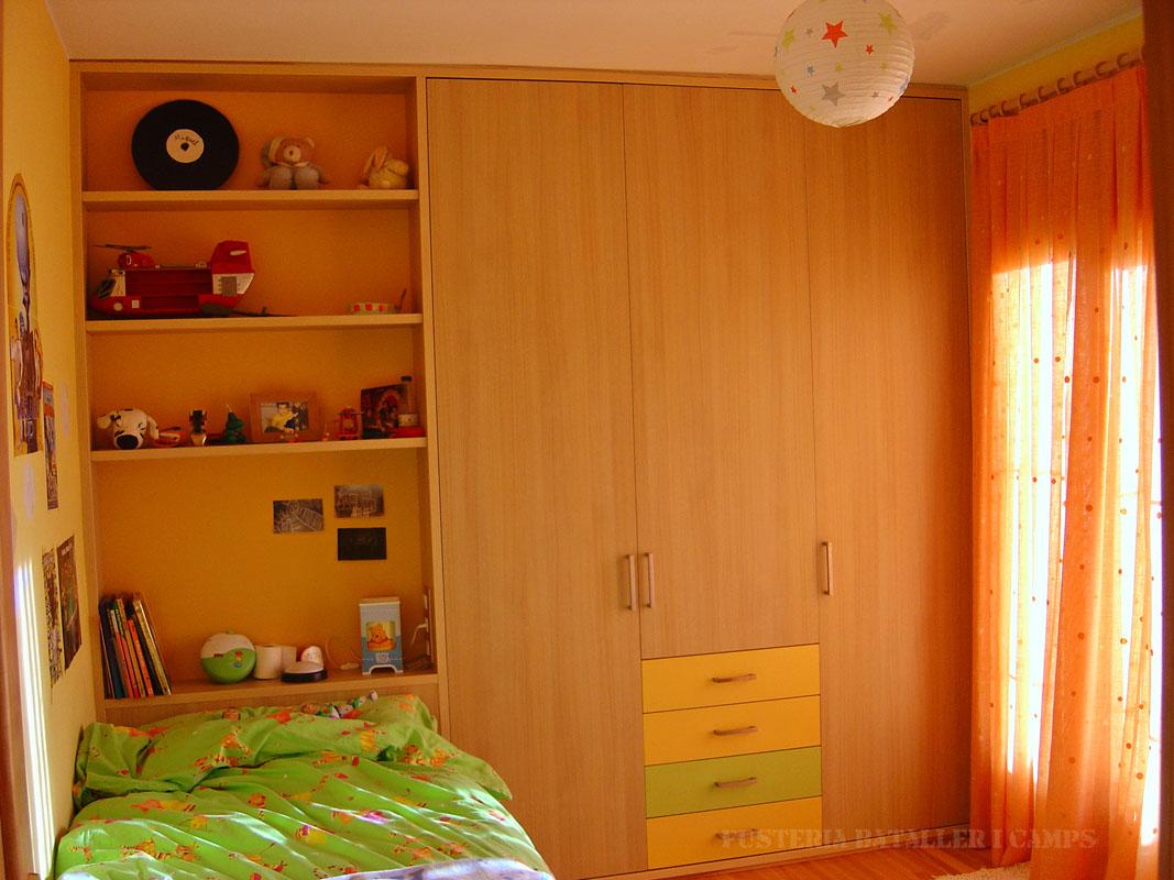 Habitacio infantil Taronja Verda Armari
