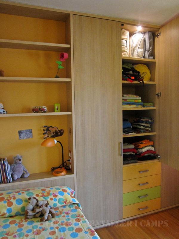 Habitacio infantil Taronja Verda Llum